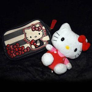 Hello Kitty Makeup Bag and Plush Sanrio Official